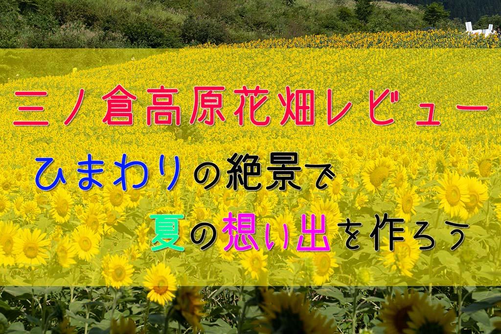 【福島】夏のおすすめ観光スポット!三ノ倉高原ひまわり畑レビュー